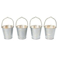 HAND PIERCED TEA LIGHT BUCKETS 10th Wedding Anniversary Gift Ideas