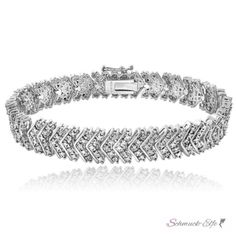 Armband Brilliant GLAM mit Zirkonias aus 925 Silber im Etui