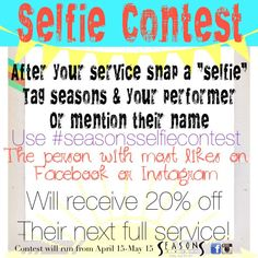 Seasons Selfie Contest