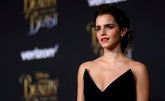 """""""Beauty and the Beast"""" star Emma Watson hit back at critics who suggested that posing for a revealing photo in Vanity Fair magazine was hypocritical of her feminist views. Emma Watson Outfits, Vanity Fair, Mischa Barton, Gown Photos, Actrices Hollywood, Female Stars, Poses, British Actresses, Famous Women"""