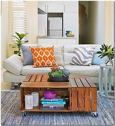fruit crates table project