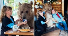 Conheça Stepan, um urso domesticado que vive com Svetlana e Yuriy Panteleenko em Moscou, Rússia.