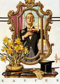 Cover for the Easter Edition of The Saturday Evening Post 1936 by J C Leyendecker, illustrated 1936