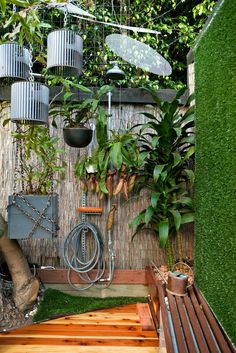 hanging planter - box & wrapped chains