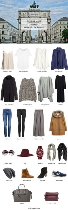 Autumn Packing List for 10 days in Munich, Germany.