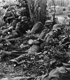 WW2 German Solider take cover.