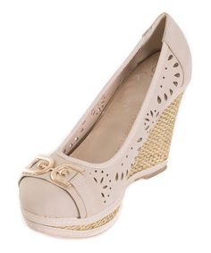 Look at this Beige Link Wedge on #zulily today!