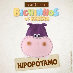 Hipopótamo de feltro: aprenda a fazer! http://www.lojaslinna.com.br/blog/vaquinha-feltro