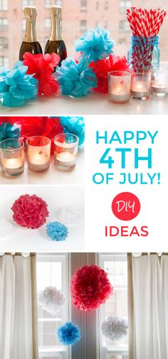 DIY ideas for your 4th. Check out these patriotic pouf kits on Darby Smart!