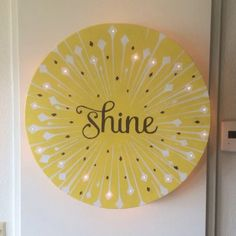 """The artwork was commissioned by one of our clients. It was a gift to the person, who was inspired by the book called, """"Shine"""" wrote by MH Clark and designed by Jill Labieniec. (23"""", Sprays, Acrylic Marker, LED lights with batteries) #lm40shine #shine #birthday #commissions #light #decoration #JonSavageGallery #art http://JonSavageGallery.com"""