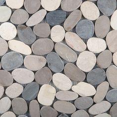 Emser Tile & Natural Stone: Ceramic and Porcelain Tiles, Mosaics, Glass Tiles, Natural Stone, Natural Stone: Venetian Pebbles Flat Pebbles , Medici Blend