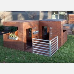 These are freakin' amazing.  Modern Modular Playhouses.  Love love love.