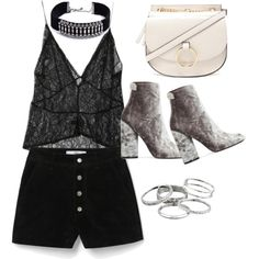 A fashion look from November 2016 featuring StyleNanda tops, MANGO shorts and Public Desire ankle booties. Browse and shop related looks.