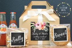 Set of 6-Out of Town Guest Box / Wedding Welcome Box / Wedding Welcome Bag / Out…