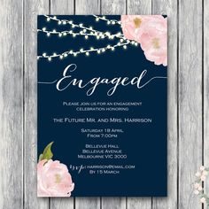 Nice Engagement Party Invitation Templates Fancy Engagement Party