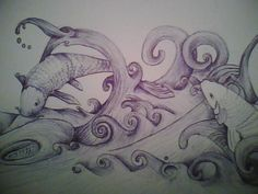 Anything is possible: from a simple black pen, to pencil, markers and plenty more :O)