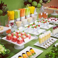 Fruit & veggie display ideas.