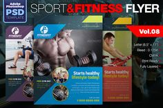 Sport & Fitness Flyer Vol.08 by KitCreativeStudio2 on Creative Market