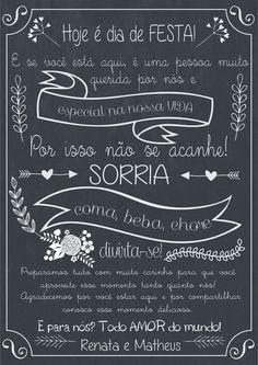 Poster Casamento Bem Vindos - A3