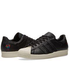 timeless design a1b0b 21795 New Adidas 2016 Superstar 80s CNY Core Black amp Chalk White Size 9.5, 10
