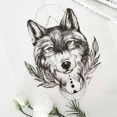 Wolf sketch for today tat ideas tattoos, tattoo drawings och wolf tattoo . Pretty Skull Tattoos, Lace Skull Tattoo, Tattoos Skull, Wolf Tattoos, Animal Tattoos, Body Art Tattoos, Wolf Tattoo Back, Small Wolf Tattoo, Wolf Tattoo Sleeve
