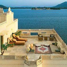 Taj Lake Palace in Udaipur, India.