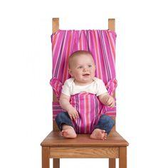 Articolo: STRIPEFUXIA_Parent skuIl seggiolone tascabile rende il pranzo facilissimo, che tu sia a casa di parenti, in viaggio, in vacanza o semplicemente in movimento. Aggancia il bambino in modo sicuro alle normali sedie da adulti, adattandosi a sedute di ogni forma e dimensione. Si ripiega per stare in borsetta ed e' lavabile in lavatrice. E' stato progettato da una madre ansiosa in collaborazione con esperti di sicurezza, e' adatto ai bambini da 6 a 30 mesi ed e' garantito vita natural…