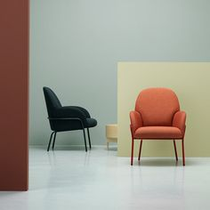 Sling chair by Note Design Studio<br /> is sized for compact spaces