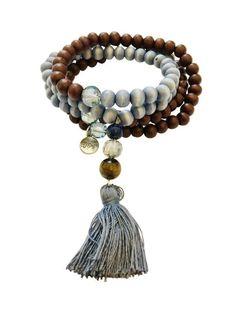 Rhodonit piedra natural perlas pulsera//corazón símbolo//rosenrot