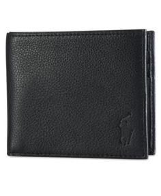 POLO RALPH LAUREN Polo Ralph Lauren Men\u0027S Wallet, Pebbled Bifold Wallet. # poloralphlauren #