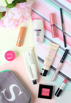 A peak inside my July Summer makeup bag featuring brands such as Antipodes, Korres, Bobbi Brown, Mac, bareMinerals, Bourjois, Soap & Glory, Nyx, Benefit and Oliver Bonas on www.themakeupdirectory.co.uk