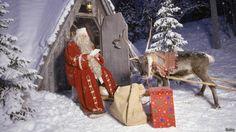 Santa Claus en Laponia En el invierno todos se preparan en Laponia para hacer dinero que dure el año completo.