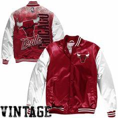 Mitchell & Ness Chicago Bulls Hardwood Classics Sublimated Jacket - Red/White