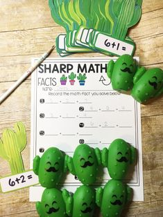 Cactus Lesson Ideas with FREE Printables! Kindergarten Freebies, Kindergarten Teachers, Fun Math Activities, Primary Maths, Diy Wedding Projects, Math Facts, Classroom Inspiration, Number Sense, Addition And Subtraction