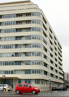An art deco block of flats in Brighton Sussex England