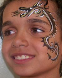 dragon face painting design ideas