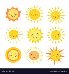 Sun emoji funny summer sunshine sun baby happy vector image on VectorStock Doodle Drawings, Easy Drawings, Doodle Art, Cartoon Drawings, Sun Emoji, Emoji Set, Sonne Illustration, Cute Illustration, Cartoon Sun