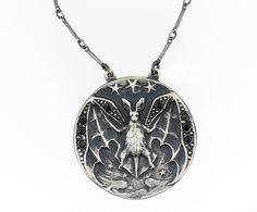 Night Creature: Art Nouveau Bat Necklace                                                                                                                                                     More