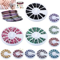 3D Nail Art Tips Gems Glitter Rhinestone Rolls Tape Line Sticker Diy Decoration -- Read more reviews of the product by visiting the link on the image.