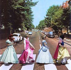 some of my fav things. London (Abbey road), the beatles (abbey road symbolism), and disney princesses :) Abbey Road, Disney Girls, Disney Love, Disney Magic, Disney Style, Dark Disney, Disney And Dreamworks, Disney Pixar, Cinderella Disney