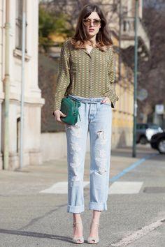 Italian fashion blogger Eleonora Carisi carrying the Gucci Soho Disco Bag