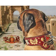 "Cane Corso Collar, Neapolitan Mastiff Collar ""The Legion"" Roman Influenced"