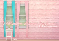 Pixelsimdreams: Illusion Shades Recolorsu201cHereu0027s Some Beautiful And Simple  Curtain Recolors For Those Wonderful Little Simmie Homes.
