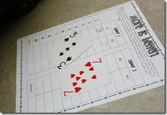 Fun game for comparing numbers (similar to War). Recording sheet can be downloaded.