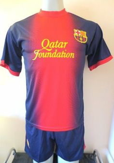 """BARCELONA #10 LIO MESSI HOME SOCCER YOUTH LARGE SET JERSEY & SHORT (FOR 11 TO 12 YEARS OLD).NEW by ALLSOCCER. $29.95. FOR 11 TO 12 YEARS OLD. NEW. SOCCER. JERSEY AND SHORT. YOUTH SET LARGE. NEW BARCELONA HOME SOCCER YOUTH SET SIZE YOUTH LARGE  # 10 LIO MESSI  A MUST HAVE FOR A REAL SOCCER FAN!   BRAND NEW IN BAG  YOUTH LARGE FOR 11-12 YEARS 18"""" ARMPIT TO ARMPIT AND 24""""  NECK TO BOTTOM     GORGEOUS SET.BARCELONA LOGO.  100% POLYESTER.GREAT QUALITY.  NAME AND NUMBER ON B..."""