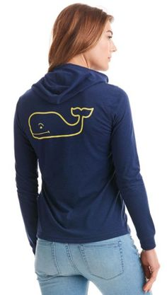 Vineyard Vines Long-Sleeve Heathered Whale Hoodie Tee