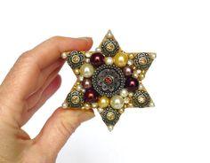 sternförmige Verlobungsring Kästchen mit Perlen Strass von LonasART, €26.90