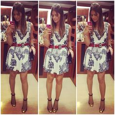 Black and White Dress - Thassia Naves