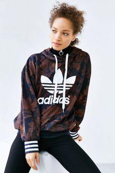 adidas Originals Leaf Camo Hoodie Sweatshirt - Urban Outfitters