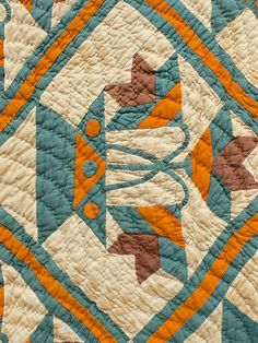 Detail, Inspired Southern Carolina Lily Antique Quilt Cheddar with Spotted Flower Pots | eBay, fourthcornerfinds